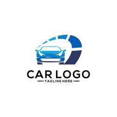 Silhouette Logo design concept. Car Logo Vector Template