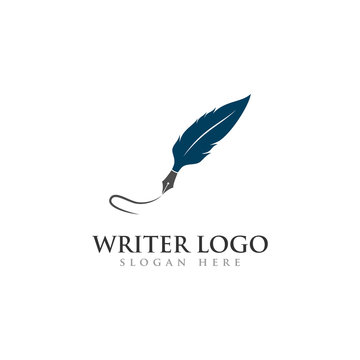 writer logo, feather logo for law