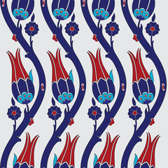 Ottoman carnation and tulip textile design
