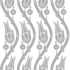 Ottoman carnation and tulip textile design