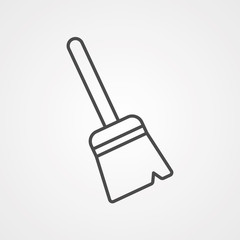 Broom vector icon sign symbol