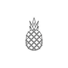 Pineapple fruit icon illustration