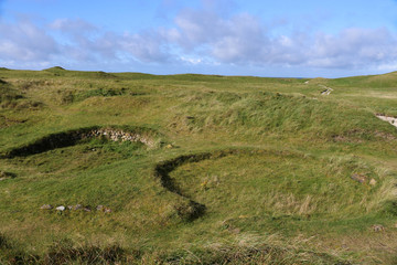 Cladh Hallan Roundhouses, South Uist, Hebriden