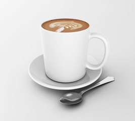 3d Cup of coffee