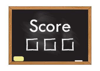 Blackboard record Score Vector illustration for design