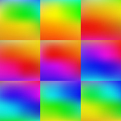 Set of Colorful Background