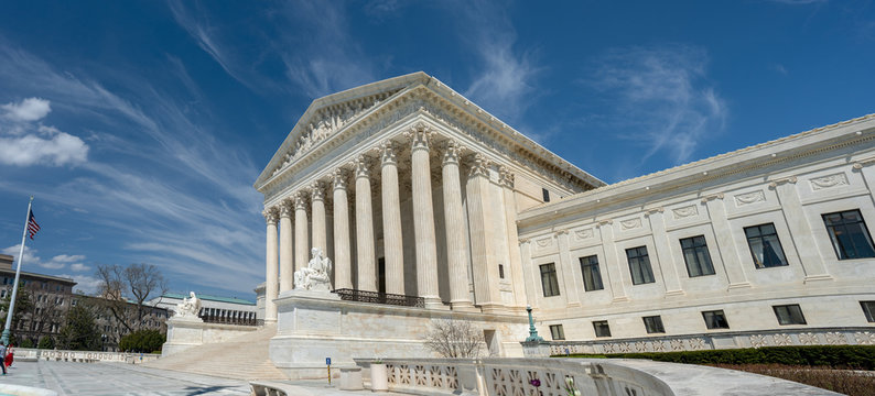 United States Supreme Court building located in Washington, D.C., USA.