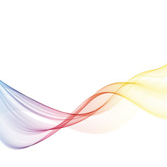 Abstract motion smooth color wave vector Curve rainbow lines