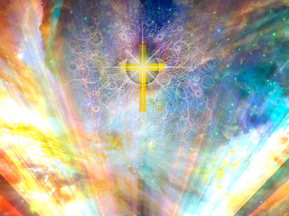 Shining golden cross