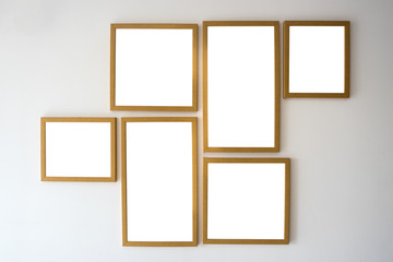 Blank of wooden frames picture hanging