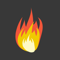 Cartoon fire flames set. Fire flame vector illustration.