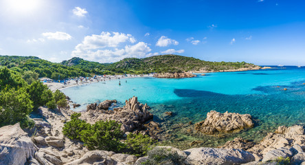 Wall Mural - Spiaggia del Principe, amazing beach of Emerald coast, east Sardinia island, Italy