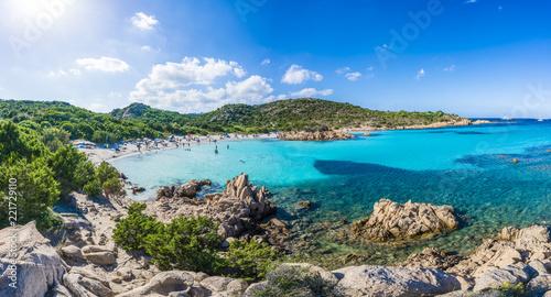 Wall mural Spiaggia del Principe, amazing beach of Emerald coast, east Sardinia island, Italy