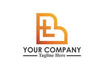 logo letter b and t flat ribbon