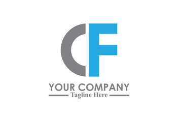 logo letter c and f