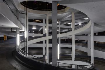 Circular ramp for parking garage