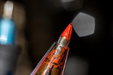 Rel gel pen close up