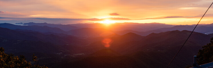 Acrylic Prints Sunset Appalachian Sunset Panoramic View