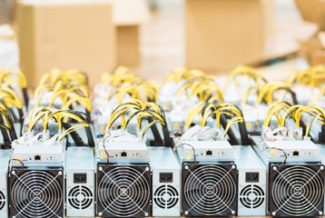 Mining ASIC rig to mine for digital cryptocurrency