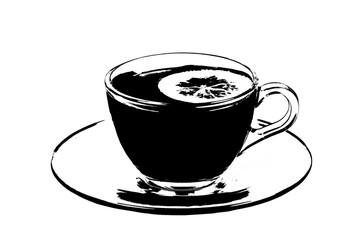 Teacup illustration isolated on white background
