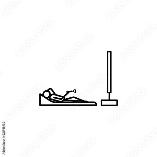 Lying Watching Tv Outline Icon Element Of Lazy Person Icon For