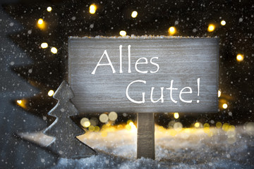 White Christmas Tree, Alles Gute Means Best Wishes, Snowflakes, Snowflakes