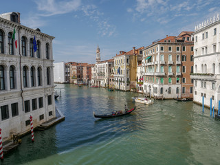 Venice, Italy, Venetian Grand Canal in summer