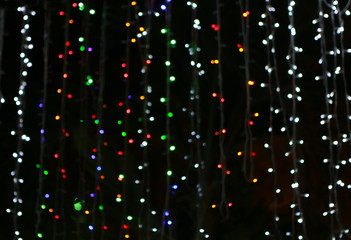Defocused abstract lights background.
