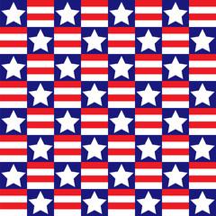 Patriotic Checkered Pattern