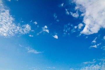 clouds and blue sky on a clear day