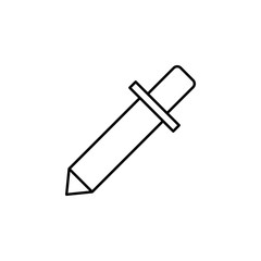 Pipette sign icon. Element of image sign for mobile concept and web apps illustration. Thin line icon for website design and development, app development. Premium icon