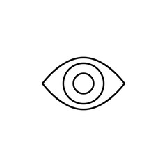 Red eye sign icon. Element of image sign for mobile concept and web apps illustration. Thin line icon for website design and development, app development. Premium icon