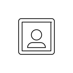 Portrait sign icon. Element of image sign for mobile concept and web apps illustration. Thin line icon for website design and development, app development. Premium icon