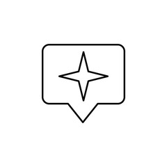 Star sign icon. Element of image sign for mobile concept and web apps illustration. Thin line icon for website design and development, app development. Premium icon