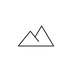 Mountains sign icon. Element of image sign for mobile concept and web apps illustration. Thin line icon for website design and development, app development. Premium icon