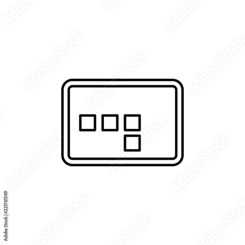 Frame sign icon. Element of image sign for mobile concept and web ...