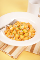 Vegan & Vegetarian Food - Rutabaga & Onion Hash