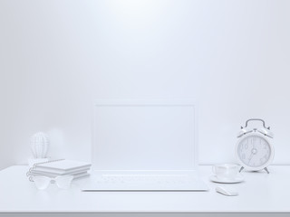 Minimal concept, Laptop on table