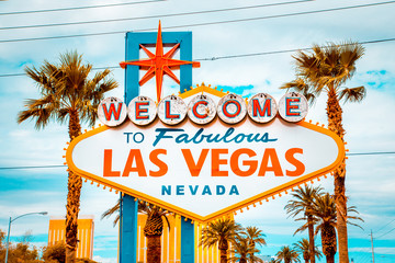 Photo sur Plexiglas Lieux connus d Amérique Welcome to Fabulous Las Vegas sign, Las Vegas Strip, Nevada, USA