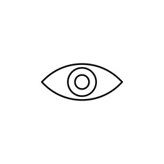 red eye. Element of photography icon for mobile concept and web apps. Thin line red eye can be used for web and mobile