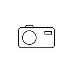camera. Element of photography icon for mobile concept and web apps. Thin line camera can be used for web and mobile