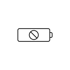 no battery. Element of photography icon for mobile concept and web apps. Thin line no battery can be used for web and mobile