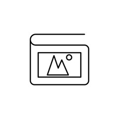 album. Element of photography icon for mobile concept and web apps. Thin line album can be used for web and mobile