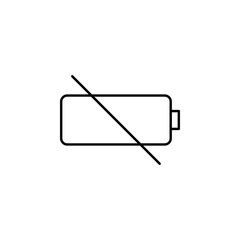 no charging. Element of photography icon for mobile concept and web apps. Thin line no charging can be used for web and mobile