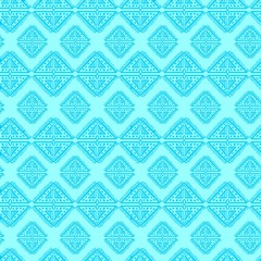 Diamond tribal seamless pattern with blue color