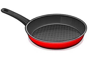 Vector frying pan design concept
