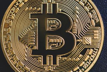 Bitcoin close up