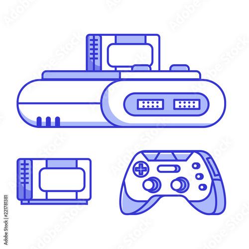Retro classic TV game console  Vintage 8 bit console system