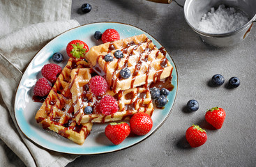 plate of waffles