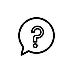 Question mark sign in a speech bubble isolated on white background vector illustration